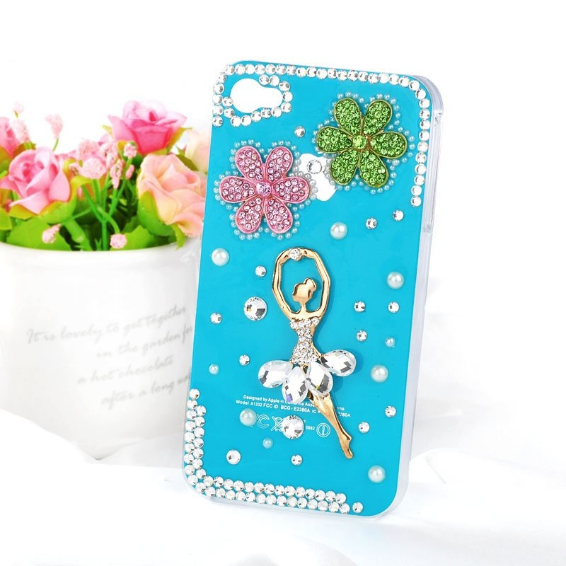 Hot-Ballet-Girl-bling-diamond-mobile-phone-luxury-cover-for-iphone4-4s-rhinestones-case-accessories-4g1 80+ Diamond Mobile Covers