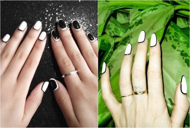 Two-colors-15 28 Dazzling Nail Polish Trends You Must Try in 2017