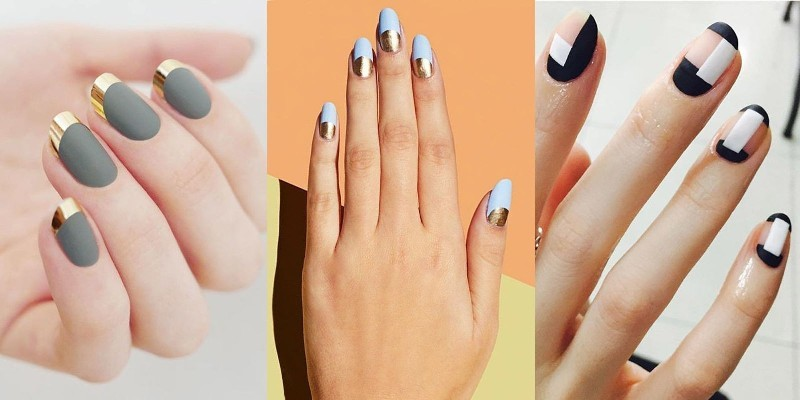 Two-colors-16 28+ Dazzling Nail Polish Trends You Must Try in 2019