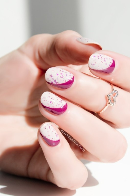 Two-colors-2 28+ Dazzling Nail Polish Trends You Must Try in 2021
