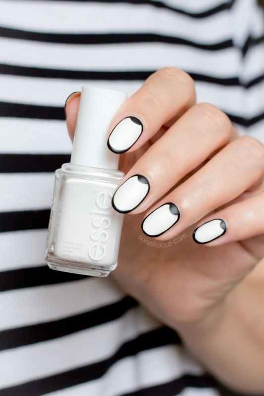 Two-colors-4 28 Dazzling Nail Polish Trends You Must Try in 2017