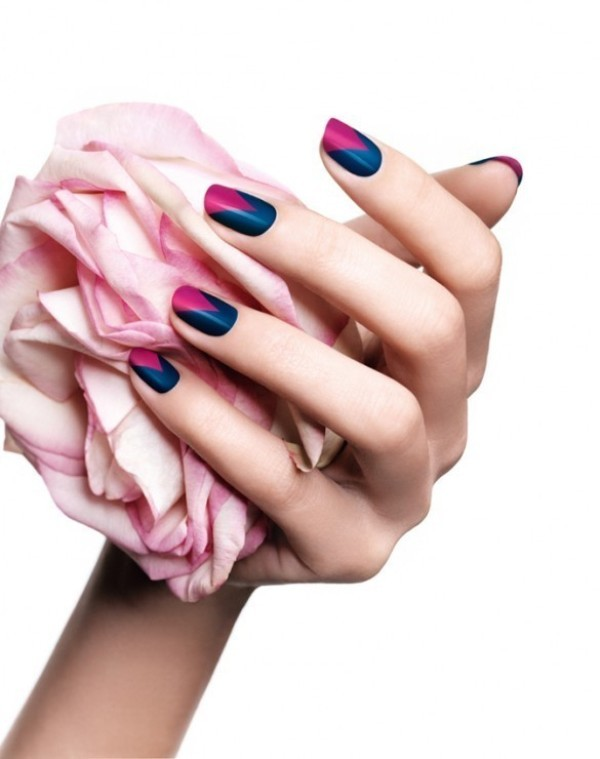 Two-colors 28 Dazzling Nail Polish Trends You Must Try in 2017