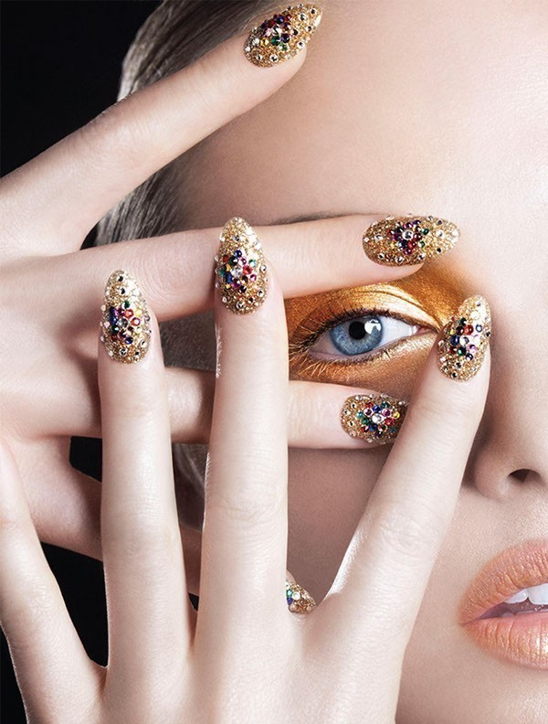 embellished-nails-1 28 Dazzling Nail Polish Trends You Must Try in 2017