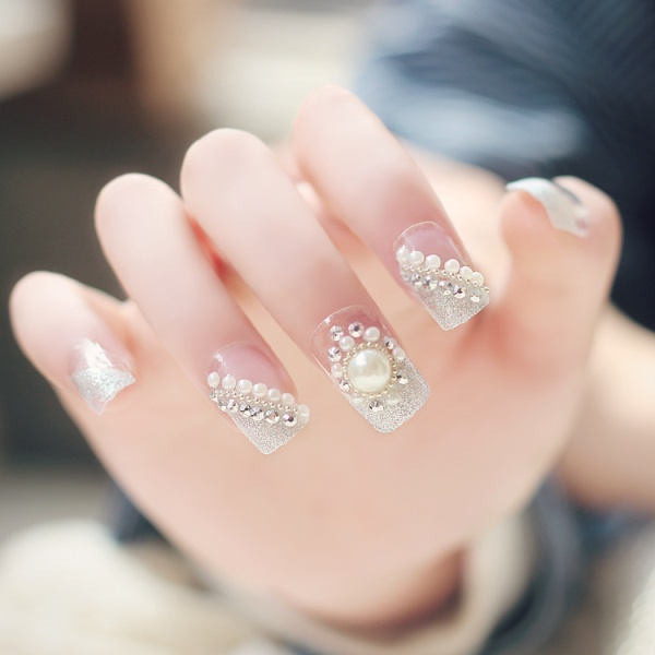 embellished-nails-10 28+ Dazzling Nail Polish Trends You Must Try in 2019