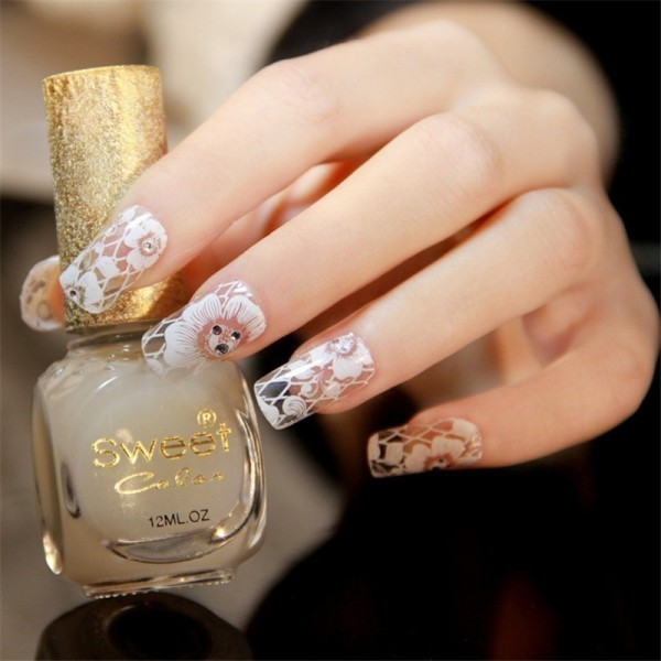 embellished-nails-11 28+ Dazzling Nail Polish Trends You Must Try in 2019