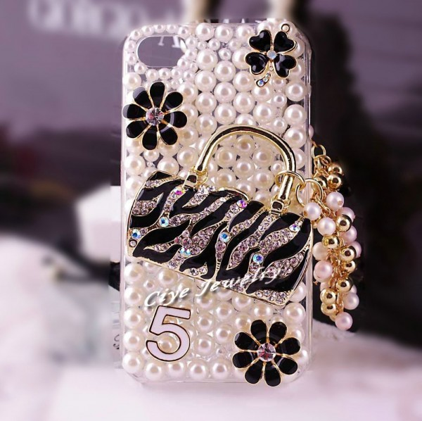 fashion-bag-pearl-rhinestone-phone-back-cover-for-iphone-4-diamond-studded-mobile-phone-case-for 80+ Diamond Mobile Covers