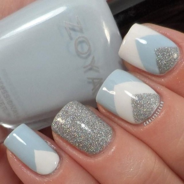 glittering-nails-17 28+ Dazzling Nail Polish Trends You Must Try in 2021