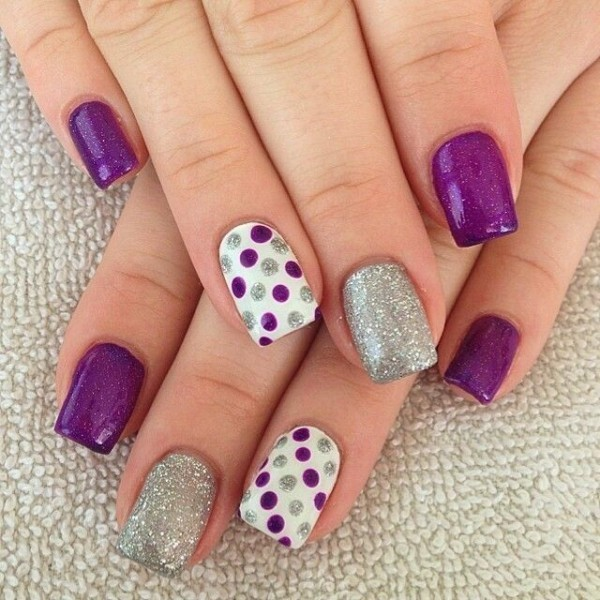 glittering-nails-18 28 Dazzling Nail Polish Trends You Must Try in 2017