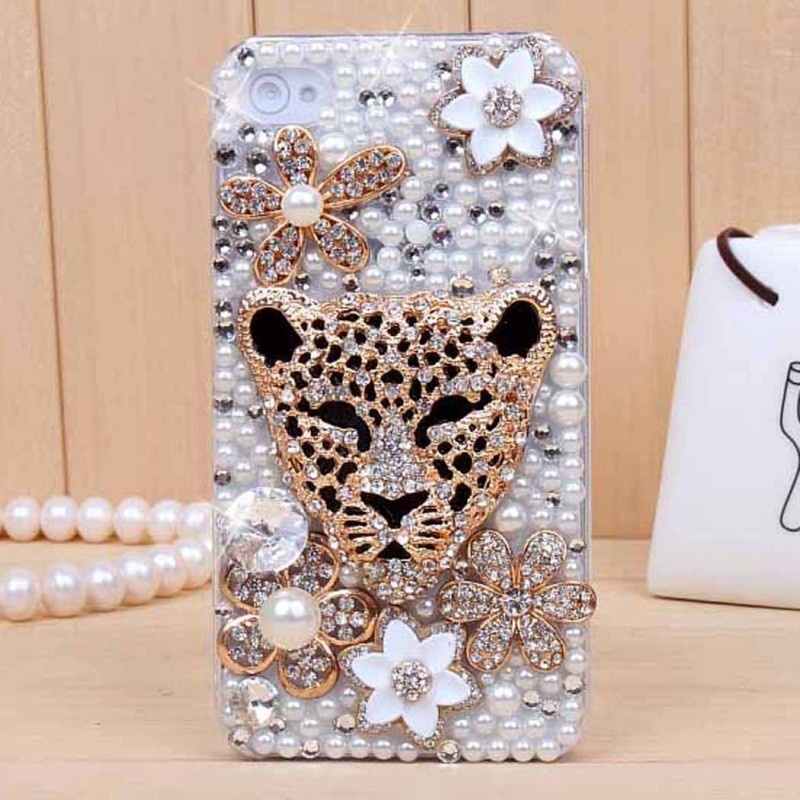 iphone4s-5-leopard-head-diamond-mobile-phone-shell-mobile-phone-shell-cell-phone-protective-cover-an-apple-45-generation-of-fat_diamond_-dimensions-normal-size-color-full-diamond-leopard-head-applic_0 80+ Diamond Mobile Covers