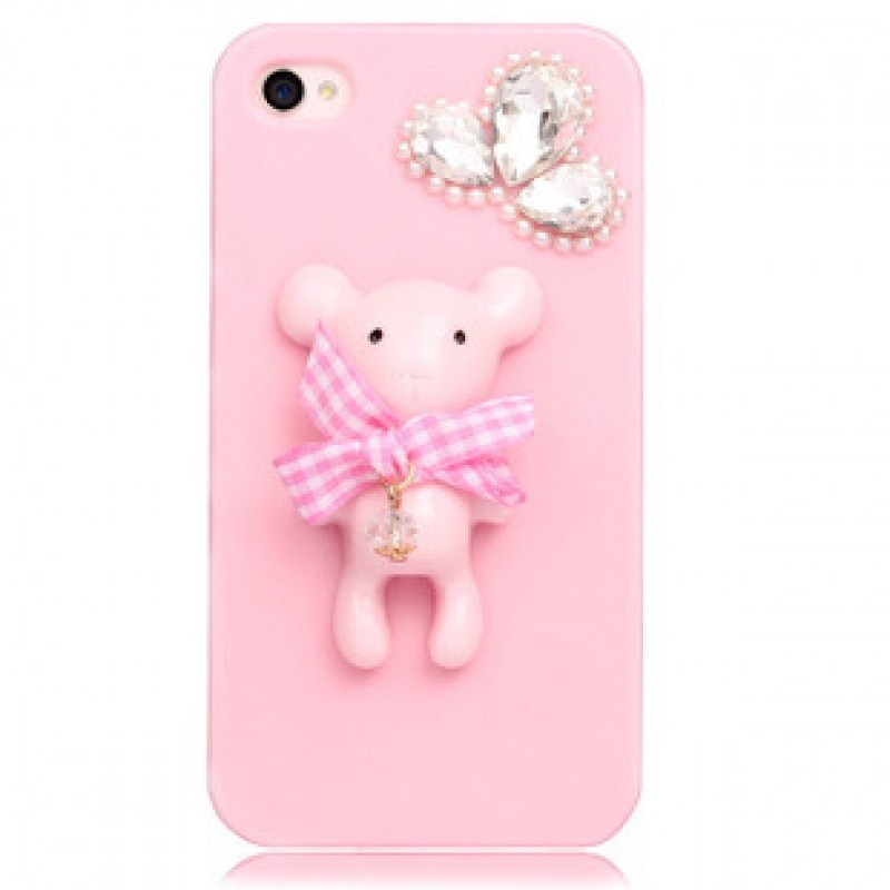 little-bear-ice-cream-fresh-iphone4s55s-diamond-mobile-phone-protective-cover-protective-shell-apple-phone-shell-_0 80+ Diamond Mobile Covers
