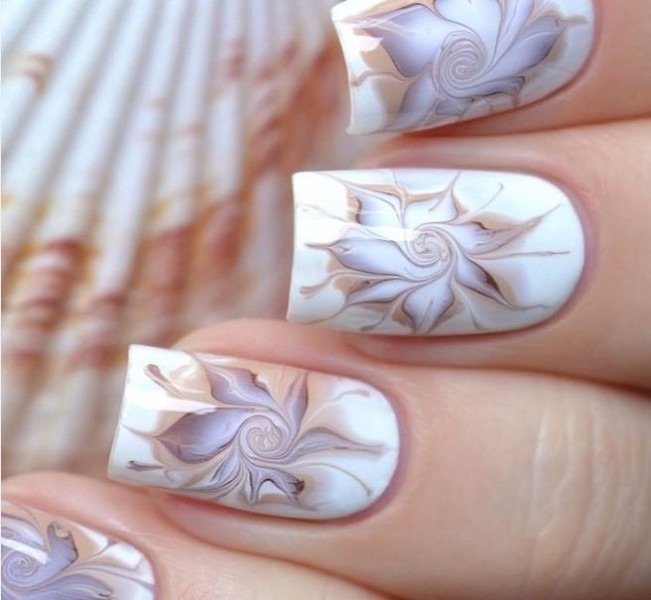 marble-nails-11 28+ Dazzling Nail Polish Trends You Must Try in 2021