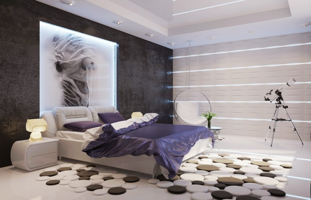 white-bedroom-teenager-bedroom-designs-texture-contemporary-purple-white-black-bedroom 5 Main Bedroom Design Trends For 2018