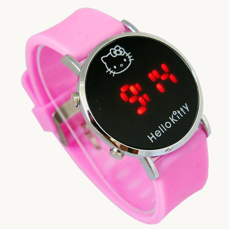12-Color-Retail-Hello-Kitty-LED-Digital-Watch-Bracelet-Wristwatches-for-Children-kids-Boys-Girls-The 75 Amazing Kids Watches Designs