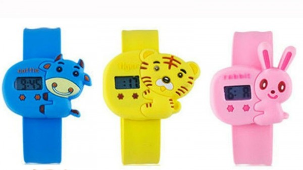2013_new_arrival_cheap_children_s_day_gift_animals_slap_kids_digital_watches 75 Amazing Kids Watches Designs