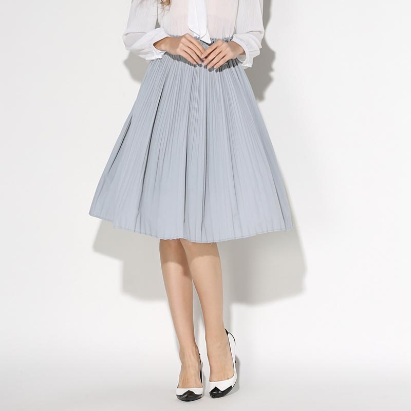 2016-New-Womens-Summer-Faldas-Vintage-Retro-Skirt-Pleated-Faldas-High-Lolita-Waist-Midi-Skirts-Femme 25+ Women Engagement Outfit Ideas Coming in 2020