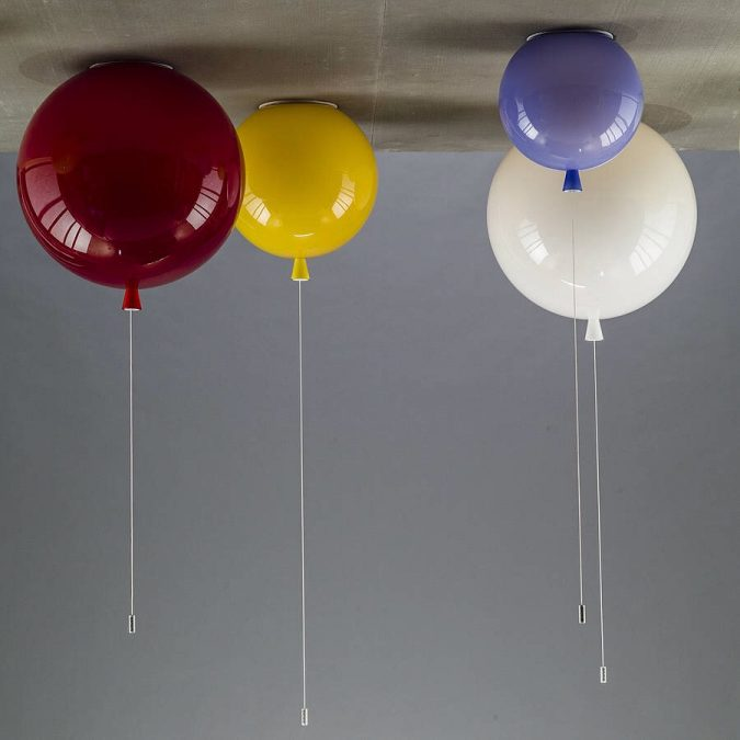 Balloon-lamps4-675x675 20+ Ceiling Lamp Ideas for Kids' Rooms in 2017