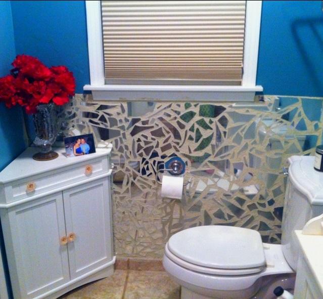 DIY-broken-mirror2-1 Latest Trends: Best 27+ Bathroom Mirror Designs
