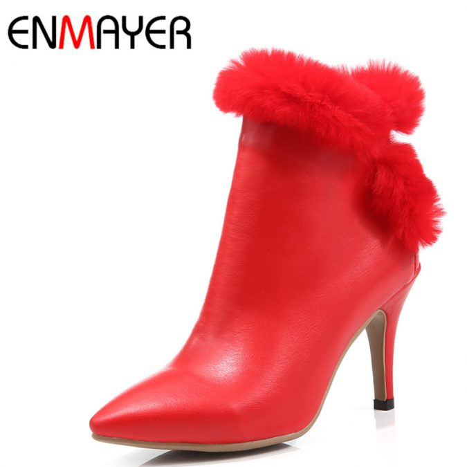 ENMAYER-New-Fashoin-High-Heels-Pointed-Toe-Sexy-Red-Shoes-Woman-Zippers-Platform-Winter-Ankle-Boots-675x675 5 Stylish Women Shoe Trends for 2020