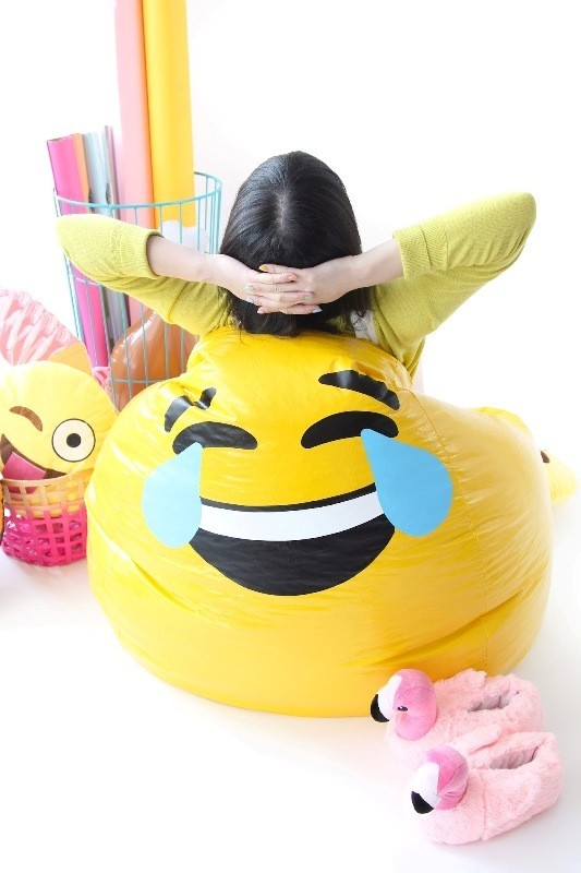Emoji-Bean-Bag-chair 50 Affordable Gifts for Star Wars & Emoji Lovers