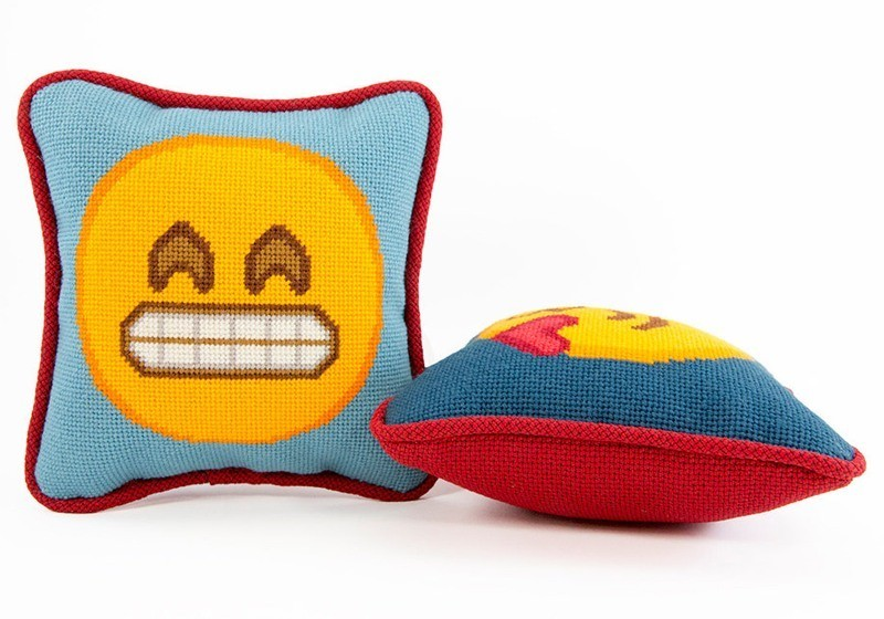 Emoji-needlepoint 50 Affordable Gifts for Star Wars & Emoji Lovers