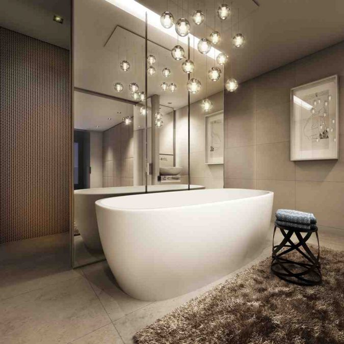 Feng-Shui-Bathroom-Decor-675x675 27+ Trendy Bathroom Mirror Designs of 2017