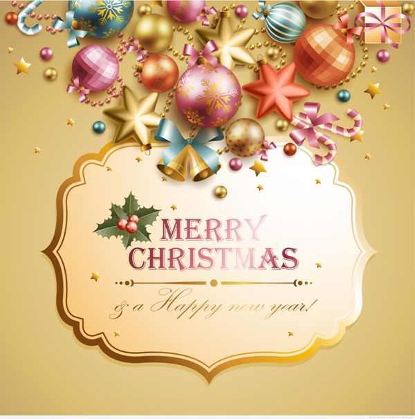 Free-Vector-Christmas-Cards-and-Banners-4 75 Most Fascinating Christmas Greeting Cards for 2017