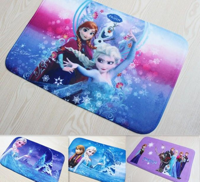 Frozen-rugs-675x615 25+ Cutest Kids Bathroom Rugs for 2018