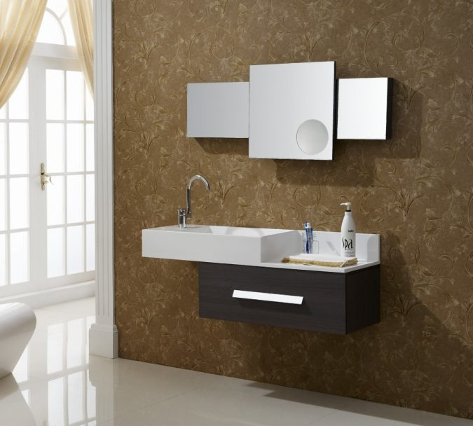 His-and-hers-mirrors6-675x608 Latest Trends: Best 27+ Bathroom Mirror Designs