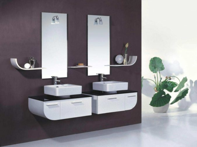 His-and-hers-mirrors7-675x506 Latest Trends: Best 27+ Bathroom Mirror Designs
