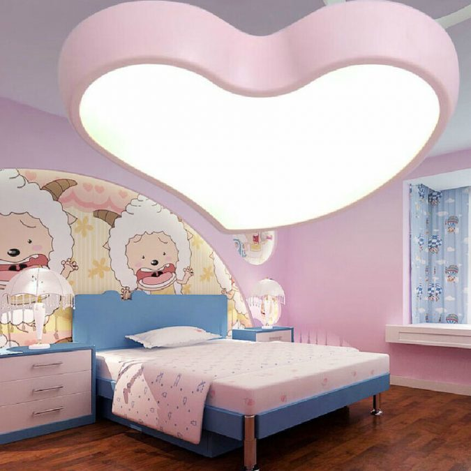 LED-shaped-light-675x675 20+ Best Ceiling Lamp Ideas for Kids' Rooms in 2020