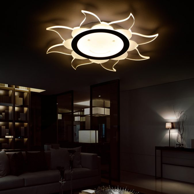 LED-shaped-light6-675x675 20+ Ceiling Lamp Ideas for Kids' Rooms in 2017