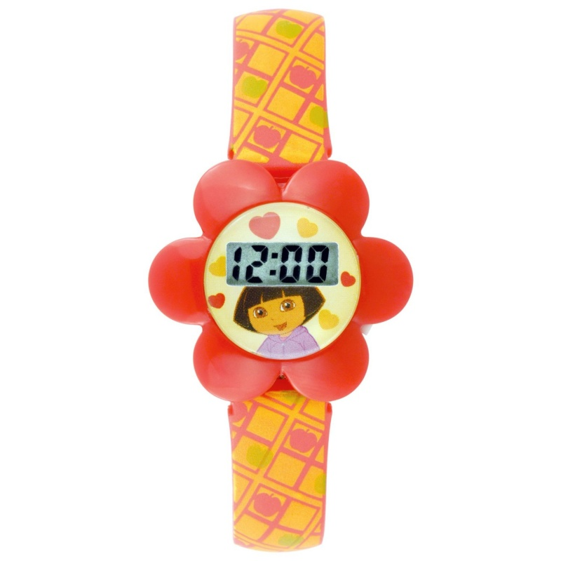 Orange-Flower-Digital-Dora-Watch1 75 Amazing Kids Watches Designs