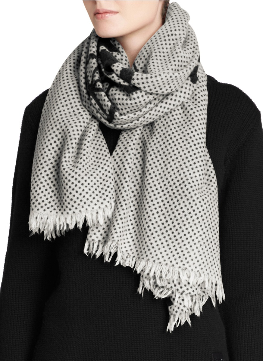 Polka-Dot-Cashmere-Scarf2 22 Scarf Trend Forecast for Fall & Winter 2017