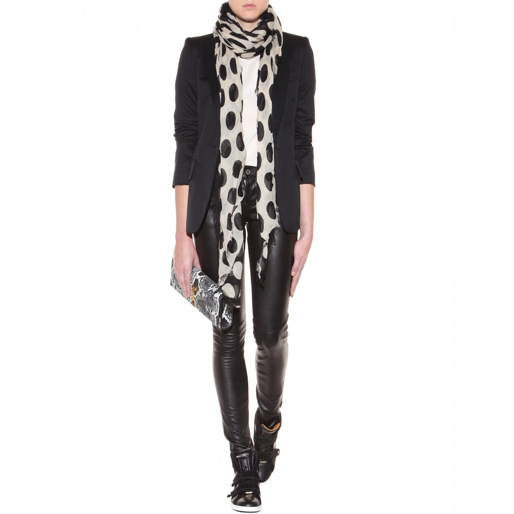 Polka-Dot-Cashmere-Scarf3 22 Scarf Trend Forecast for Fall & Winter 2017