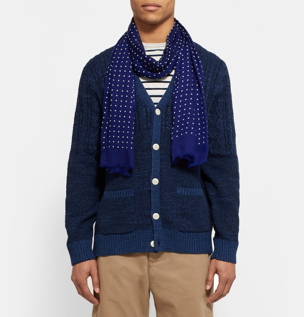 Polka-Dot-Cashmere-Scarf4 22+ Elegant Scarf Trend Forecast for Winter & Fall 2020