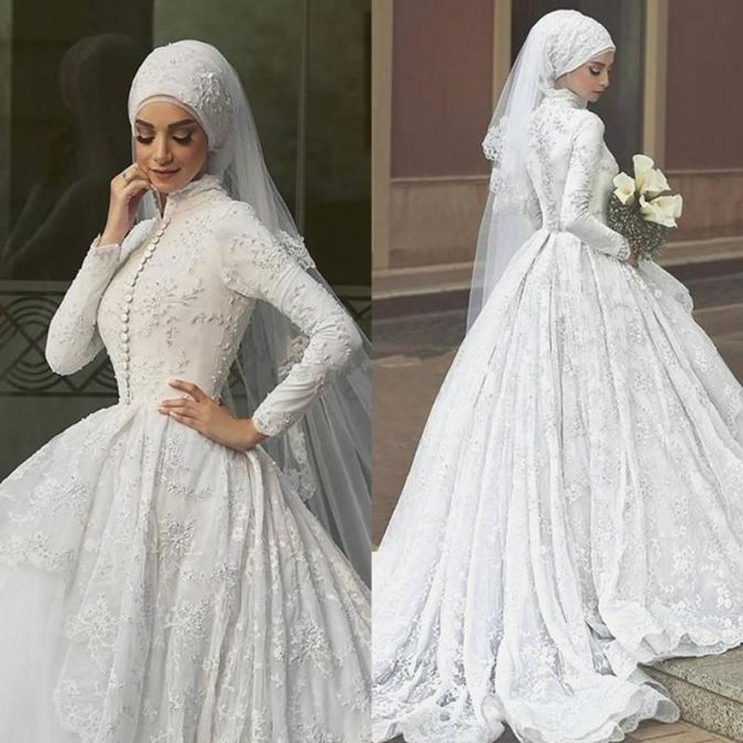 Saudi-Arabia-font-b-Wedding-b-font-font-b-Dress-b-font-Long-Sleeves-Brial-Gowns-675x675 5 Main Muslim Wedding Dresses Trends for 2018