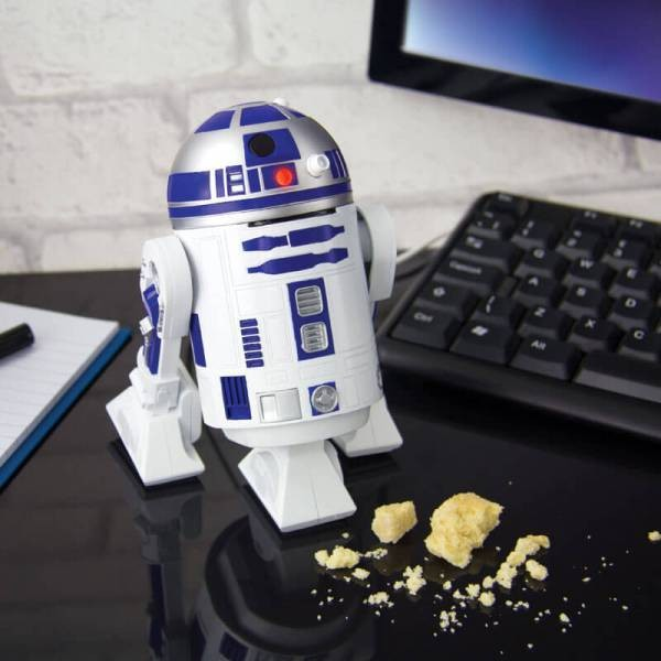 Star-Wars-R2-D2-Desktop-Vacuum 50 Affordable Gifts for Star Wars & Emoji Lovers