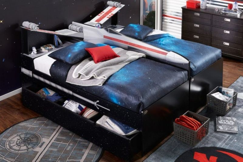 Star-Wars-X-Wing-bed 50 Affordable Gifts for Star Wars & Emoji Lovers