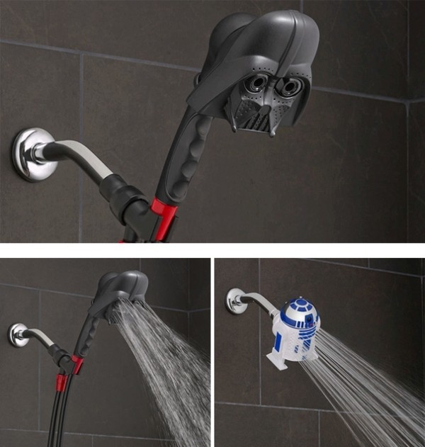 Star-Wars-showerhead 50 Affordable Gifts for Star Wars & Emoji Lovers