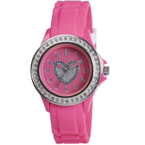 TK0050-pink-silicone-childrens-watch-with-heart-and-crystals-by-Tikkers 75 Amazing Kids Watches Designs