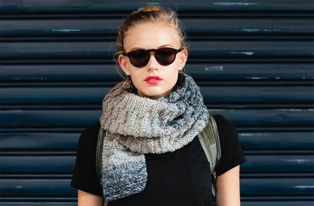 Thick-Knit-Scarf5 22+ Elegant Scarf Trend Forecast for Winter & Fall 2020