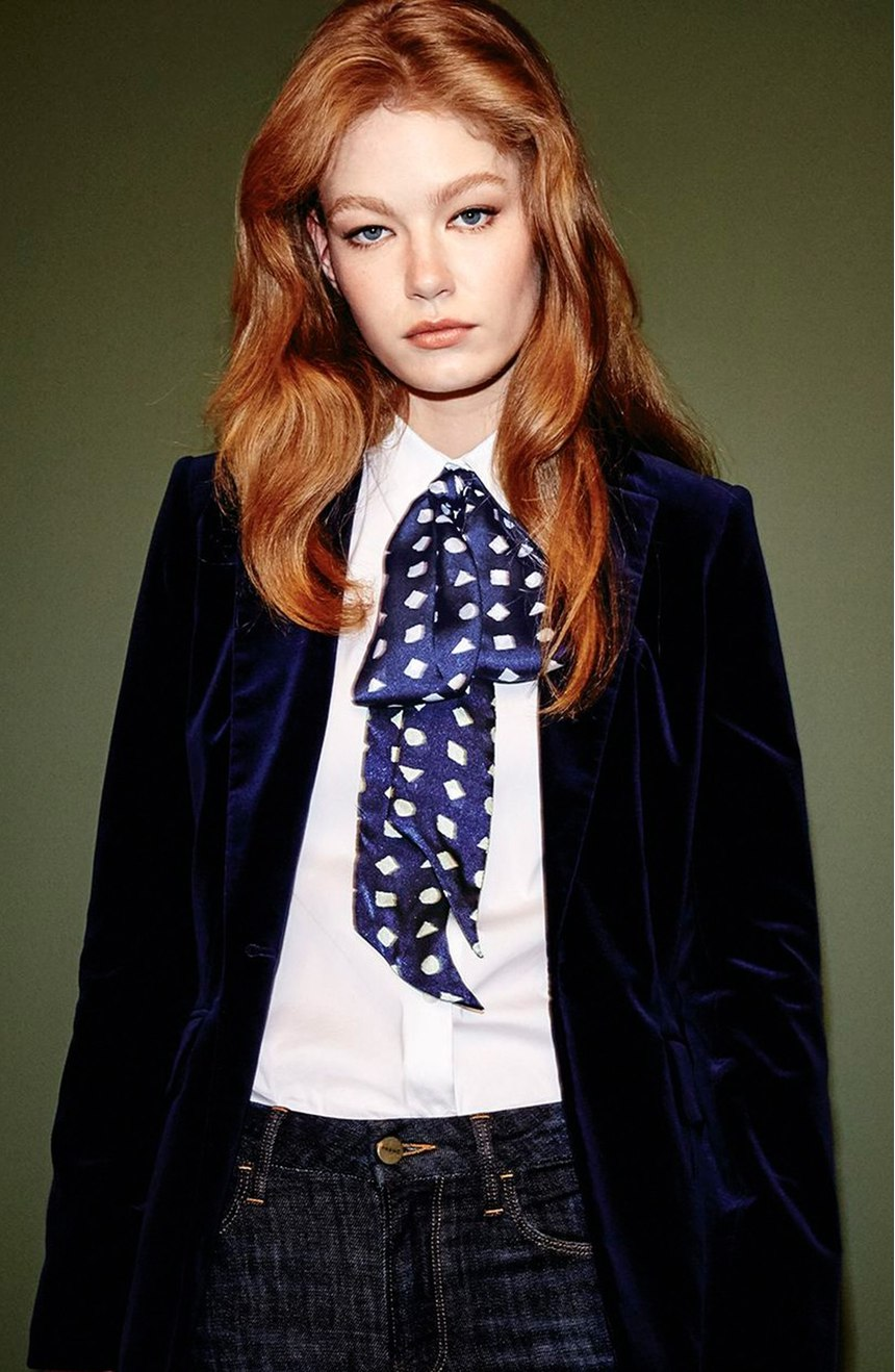 Vince-Camuto-Preppy-Geo-Scarf1 22 Scarf Trend Forecast for Fall & Winter 2017