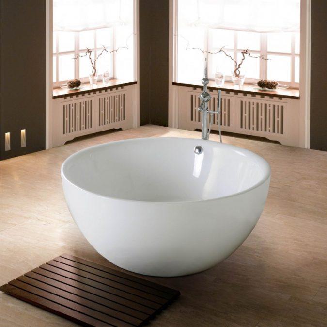 Wooden-square-shaped-bath-rug-675x674 6 Easy DIY Bathroom Rugs