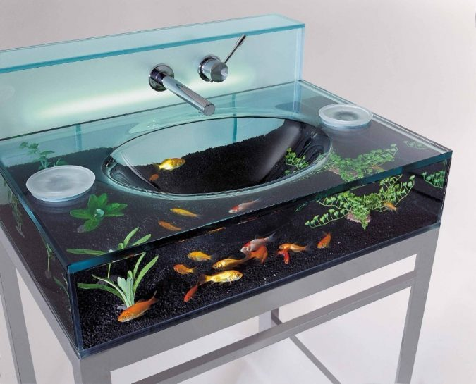 aquarium-bathroom-sink-675x545 Top 10 Modern Bathroom Sink Design Ideas in 2017
