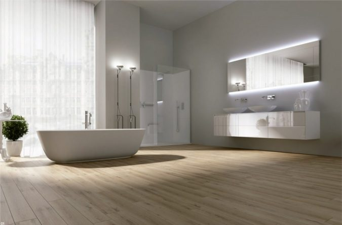 bathroom-mirror-with-built-in-lights-675x445 Latest Trends: Best 27+ Bathroom Mirror Designs