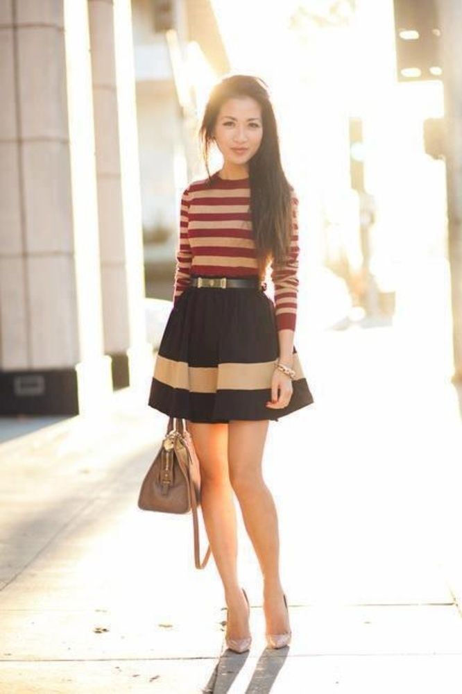 belt-and-flared-skirt 25+ Women Engagement Outfit Ideas Coming in 2018