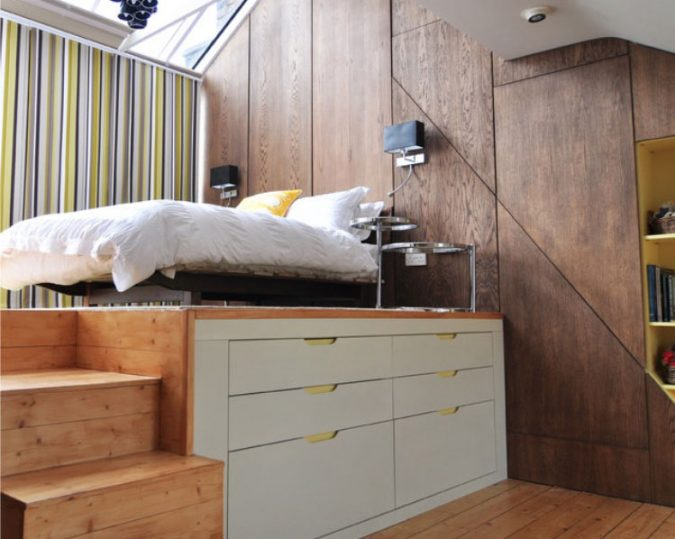 built-up-wooden-floor-and-drawers-675x539 7 Design Ideas for Teens' Bedrooms