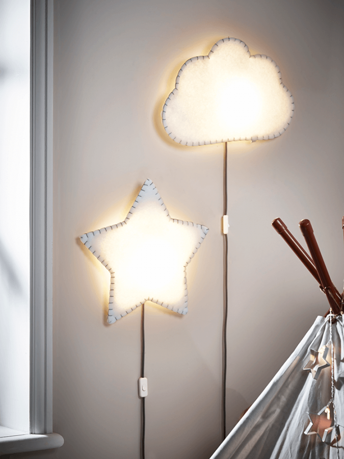 cloud-and-star-light-675x900 20+ Best Ceiling Lamp Ideas for Kids' Rooms in 2022