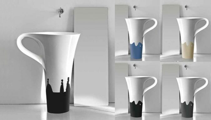 coffee-cup-sink-675x384 Top 10 Modern Bathroom Sink Design Ideas in 2017