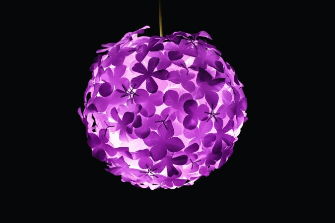 colorful-paper-lantern-flowerball-675x450 20+ Ceiling Lamp Ideas for Kids' Rooms in 2017